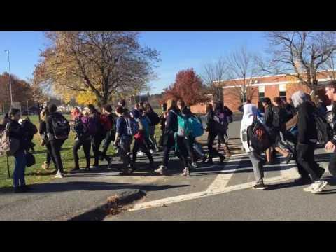 Amherst-Pelham Regional High School walk-out on the move