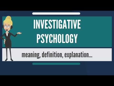What is INVESTIGATIVE PSYCHOLOGY? What does INVESTIGATIVE PSYCHOLOGY mean?