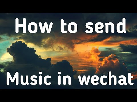 How to send music in wechat(bahasa malaysia)