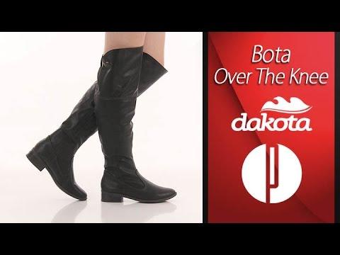 cf1ceaad2 Bota Over The Knee Feminina Dakota - Preto - 6010375312 - YouTube