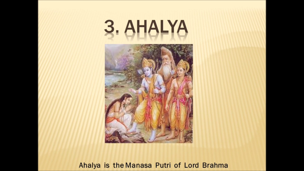 Pancha Kanya and reciting these names every day will wash