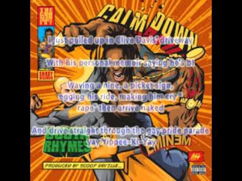 Busta Rhymes - Calm Down (Audio) ft. Eminem [Lyrics]