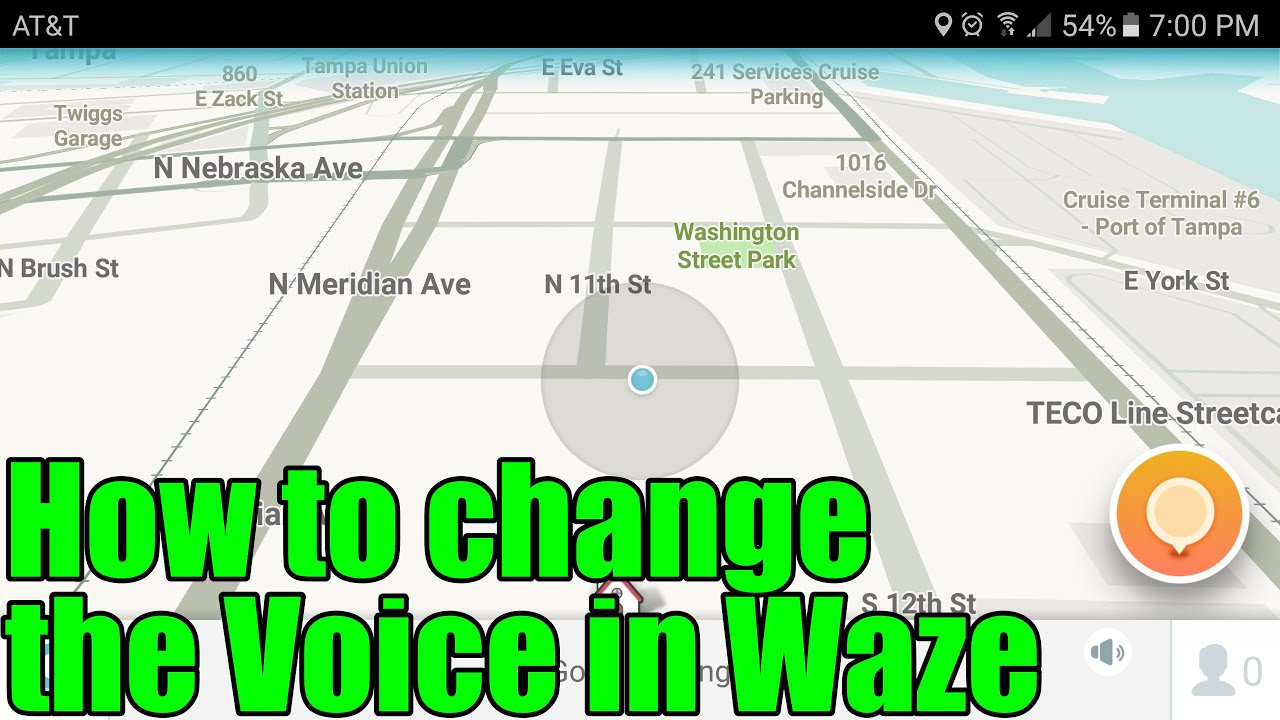 How to change the Voice in Waze
