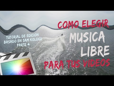 COMO OBTENER MUSICA LIBRE EN TUS VIDEOS / DESCARGA GRATIS / TUTORIAL SAM KOLDER ESPAÑOL PARTE 4