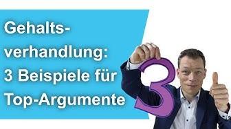Gehaltserhöhung: 3 Beispiele für Top-Argumente (Gehaltsverhandlung) // M. Wehrle