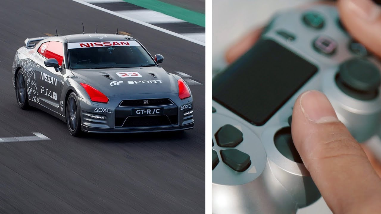 Nissan GT-R Driven with a Gaming Controller (Real Live Test)