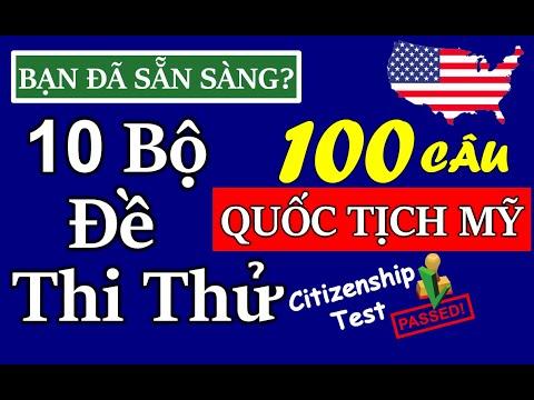10 BỘ ĐỀ THI THỬ QUỐC TỊCH MỸ 2021 ☘  GIỌNG NỮ - ĐÁP ÁN MỚI CẬP NHẬT ☘ ĐỀ 100 CÂU