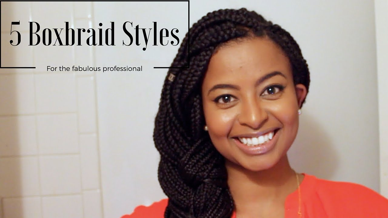 Style For Hair: How I Style Box Braids For Work