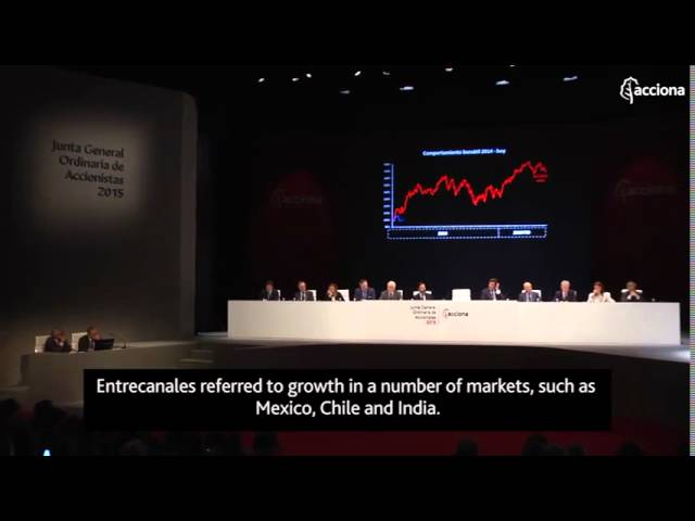 ACCIONA Annual General Meeting 2015