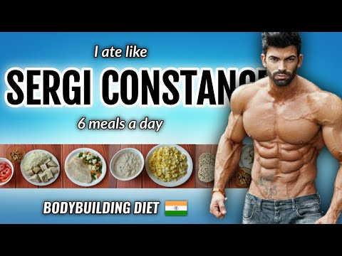 """I Tried """" SERGI CONSTANCE """" Diet plan for a day !! 🇮🇳"""