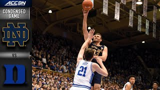 Notre Dame vs. Duke Condensed Game   ACC Basketball 2019-20