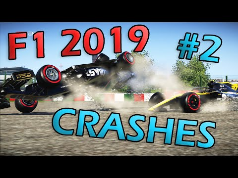F1 2019 Game Realistic Crash Compilation #2 |