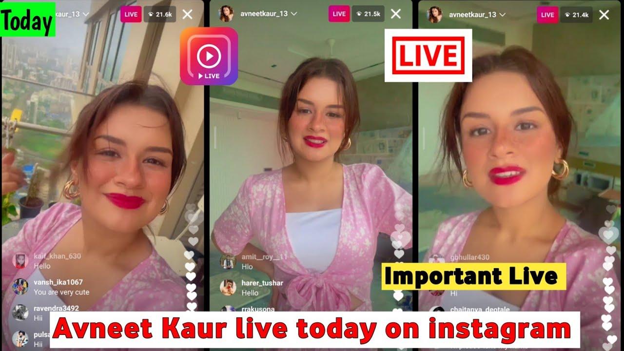 Avneet Kaur live today on instagram    avneet Kaur short important live    avneet Kaur new video