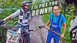Angry Man Attack Dirt Bikers - Riders VS Hillbilly 2017