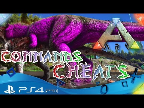 ARK PS4 🇩🇪 - CHEATS und ADMIN COMMANDS / Dinos FÄRBEN- ARK Survival Evolved Playstation 4 Deutsch