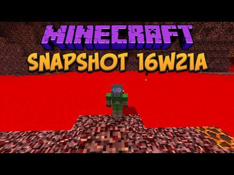 Minecraft 1.10 Snapshot 16w21a Blood Red Lava!