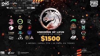 Unicorns of Love x Severnik EU League | Week 1 - Day 1 | PMPL Teams | PUBG Mobile