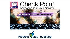 Check Point Software - Aktienanalyse - Modern Value Investing