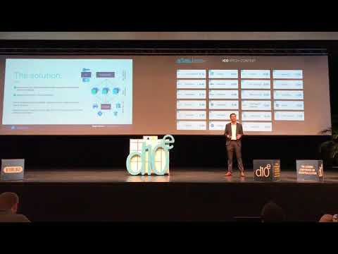 Roger Haenni explaining Datum at the D10e Conference in Davos