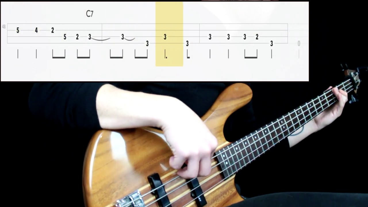 Radiohead - Anyone Can Play Guitar (Bass Only) (Play Along Tabs In Video)