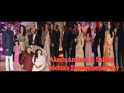 Celebs at Akash Ambani and Shloka Mehta's grand engagement party