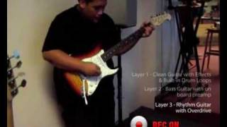Line 6 JM4 Looper Demo - by Dhalif