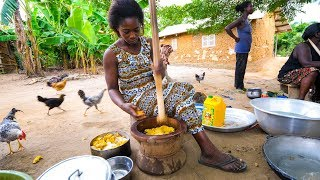 Village Food in West Africa - BEST FUFU and EXTREME Hospitality in Rural Ghana