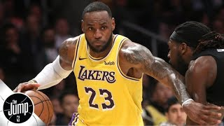 Lakers are asking a lot of LeBron James by starting him at point guard - Marc J. Spears   The Jump