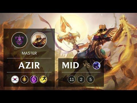 Azir Mid Vs Ryze - KR Master Patch 9.5