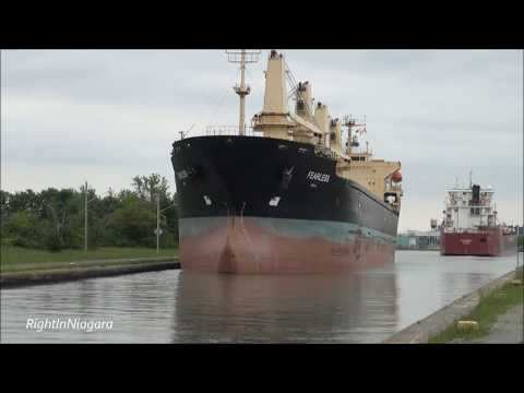 Ships FEARLESS & STEN MOSTER passing on the Welland Canal