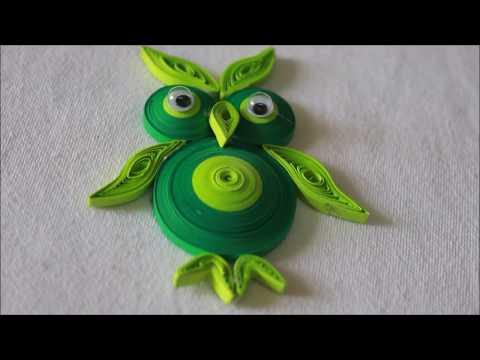 Easy DIY Quilled Paper Owl Pendant!