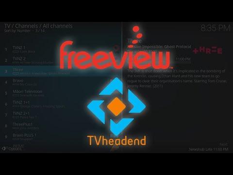 Generic TvHeadend Server Setup For Freeview NZ
