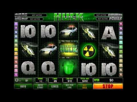 Как играть в игровой автомат The Incredible Hulk. Обучающее видео.