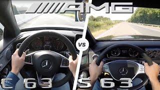 Mercedes S63 vs C63 AMG ACCELERATION & TOP SPEED POV AutoBahn
