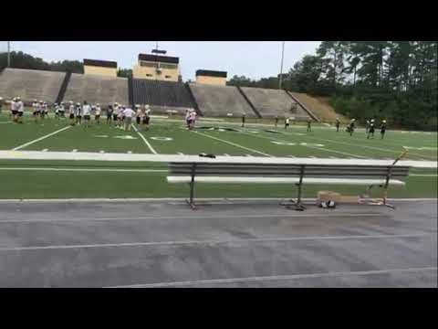 First day of football practice at North Augusta High School