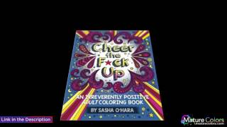 Cheer the Fck Up An Irreverently Positive Adult Coloring Book Irreverent Book Series Volume 3 | Mature Colors