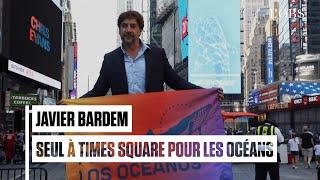 Javier Bardem appelle à un traité mondial sur les Océans depuis Times Square