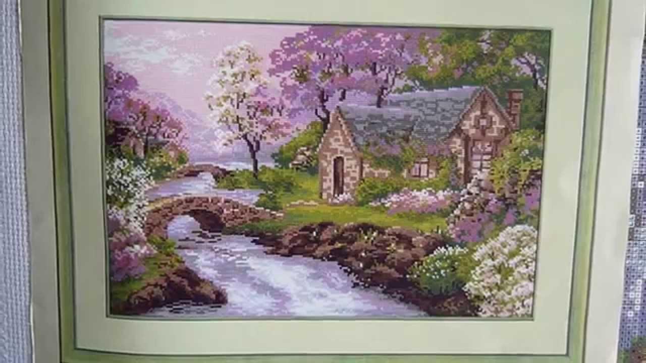 летний пейзаж схема вышивки крестом