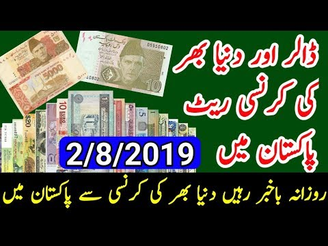 world currency rate in pakistani rupes 02/08/2019