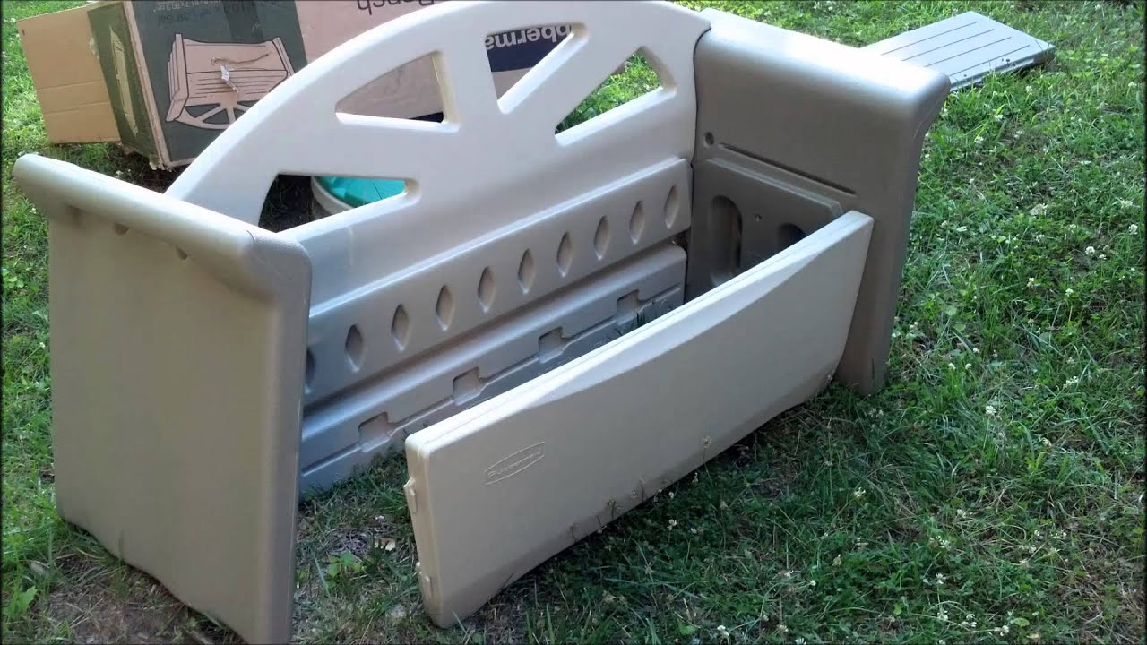 rubbermaid storage bench assembly