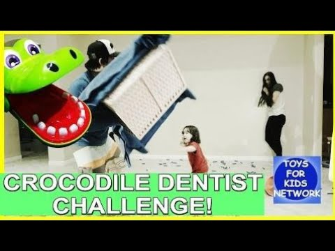Crocodile Dentist Toy Challenge – Family Fun Game for Kids Nerf and Tsum Tsum Toys!