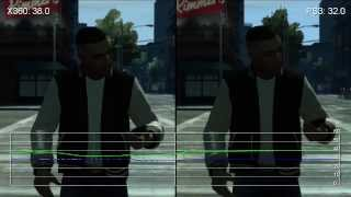 GTA 4: The Ballad of Gay Tony Xbox 360 vs. PS3 Frame-Rate Tests