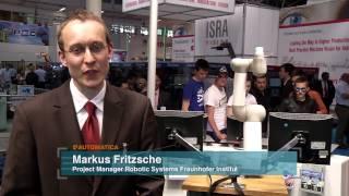 Repeat youtube video Automatica 2012 Podcast Mensch-Roboter-Interaktion/Autonome Roboter