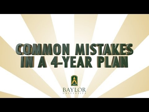 Common Mistakes in a 4-Year Plan