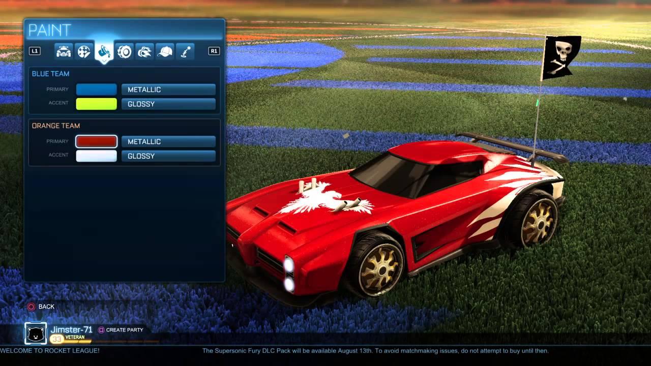 Rocket League Painted Cars