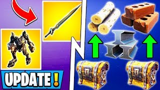 *ALL* Fortnite 10.10 Changes! | Farming & Chest Update, Infinity Blade Unvault, Mech Nerf!