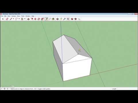 28. Use The Protractor Tool | Sketchup 2017 Tutorial HD