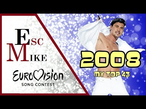 Eurovision 2008 - My Top 43 [With Rating]