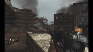 Call of Duty - World at War Multiplayer: Sniper Gameplay (PC) Scoped K98 / MP40 on Breach