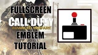 Call Of Duty Advanced Warfare - VOLLBILD-ARCADE-Emblem Herstellerin Tutorial (Sehr Einfach)